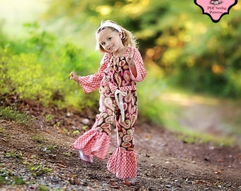 Romper Pattern Peasant style for girls newborn through size 8 Instant PDF sewing pattern