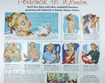 Stanley Hostess Womens Grooming Products 1950s Vintage Advertising E112