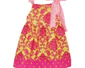 Girls Pillowcase Bow Tie Dress You Pick the Fabric - Amievoltaire