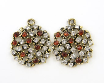 Art Deco Bridal Earring Findings Antique Silver Baguette Clear
