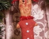 Instant Download PATTERN ANNIE Raggedy Doll Ornament Primitive Ornie Quick and Easy