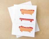 hot dog + bacon = danger dog - greeting card (blank)