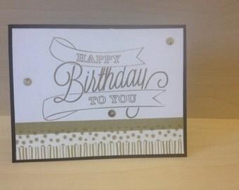 Glitter & Gold Birthday Card