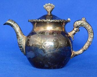 Columbia Silver Company Quadruple Silverplate Tea Pot