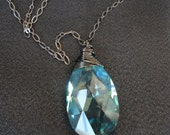 Blue Chandelier Prism Necklace