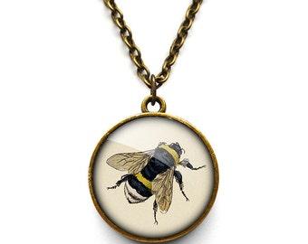 Vintage Bee Necklace (ER04)