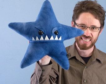 Large Starfish Fleece Plush - Blue Tye-Dye