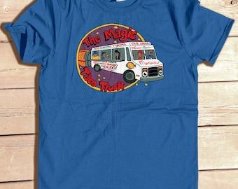 The Magic Taco Truck Tshirt funny graffiti Taco Food Trock