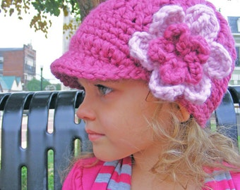 Toddler Hat Toddler Girl Hat 2T to 4T Toddler Flower Hat Flower Beanie 34 Colors Crochet Winter Hat Knit Toddler Girl Clothes Toddler Beanie