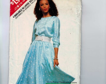 1980s Vintage Sewing Pattern Butterick See and Sew 3280 Misses Very Easy Dress Size 12 14 16 Bust 34 36 38 1989 80s UNCUT