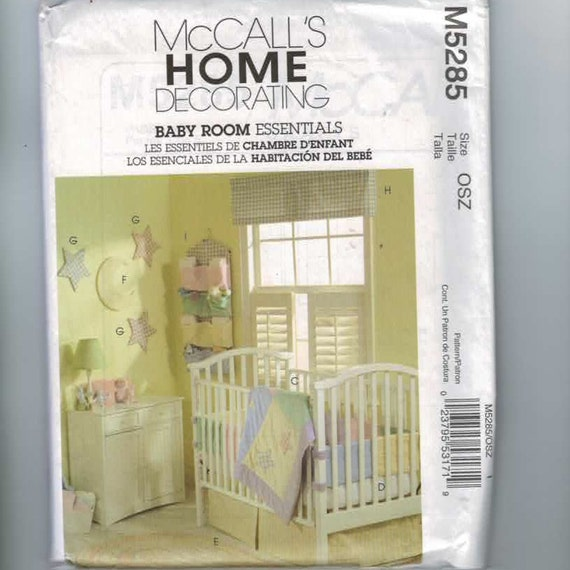 Craft Sewing Pattern McCalls M5285 Home Decor Baby Room