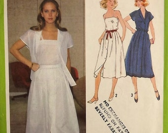 Vintage 70's Sewing Pattern, Misses' Shirt, Camisole and Skirt, Size 12