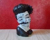 Black Dahlia Head Vase ~ Elizabeth Short Zombie HeadVase