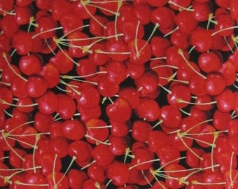 Cherries Fruit Farmers Market RJR Fabric 1/2 yard
