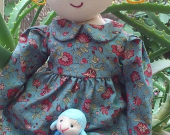 """OOAK 20"""" Ragdoll with Removable Clothes"""