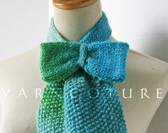 The Vintage Inspired Ascot Necktie - KNIT BOW Edition