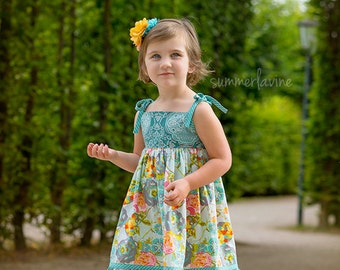 Dress- Lilly- Available sizes: 12 months - 6    Handcrafted by VALERIYA