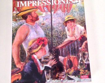 vintage Impressionism coffee table book - art history book - Jean Clay - 1973