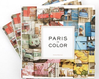 Signed Copy of Paris in Color by Nichole Robertson, Paris Photography, Girlfriend Gift for Her, Mom Gift for Wife, Stocking Stuffer