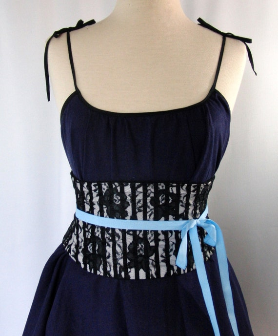 Corset Belt: Pirate Lace Black and White by redcurrydesigns