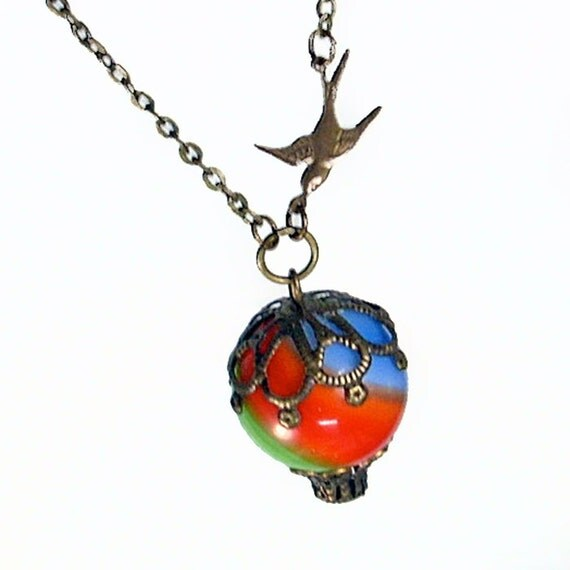 Hot Air Balloon Pendant Necklace Jewelry Jewellery - Fly Away With Me