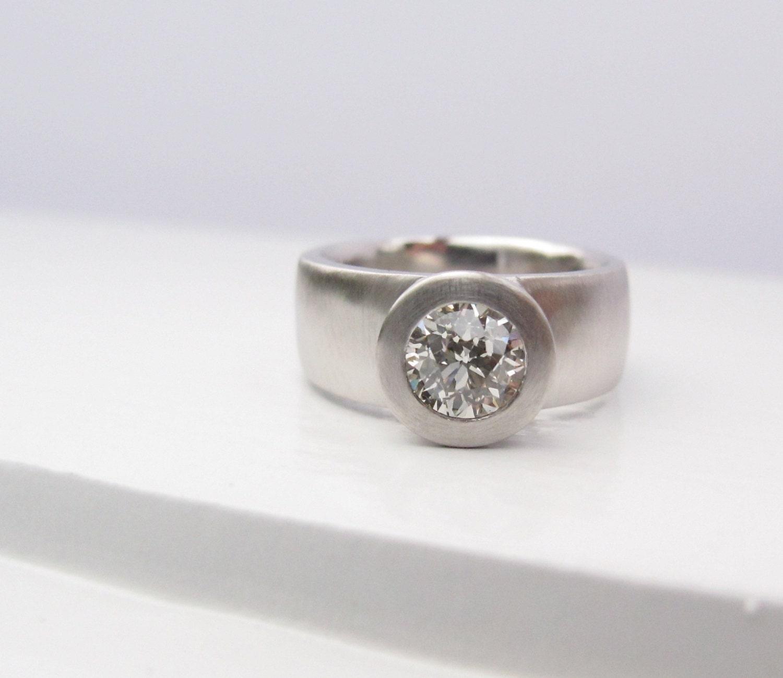 Sunken Treasure Ring 950 Platinum And Diamond Wide Band