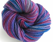 Hand Dyed Yarn Worsted  Wool Yarn - Berry Kiss