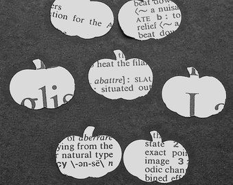 Paper Pumpkins Vintage Dictionary Confetti Halloween Party Decor Princess Party Table Decor Classroom Bulletin Board Decor Bookish Wedding