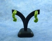 Bright Green Tentacle Earrings - Handmade Polymer Clay Jewelry
