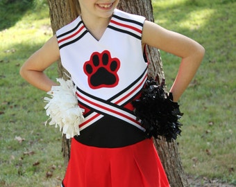 Oh Mickey Cheerleading Uniform PDF Sewing Pattern Sizes 1/2- 12