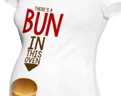 bun in the oven funny maternity top long or short sleeve maternity or non-maternity
