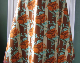 A Line Skirt, Reversible Floral Skirt SIZE 6 Women's Skirts
