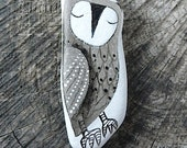 Large Beach Glass Owl