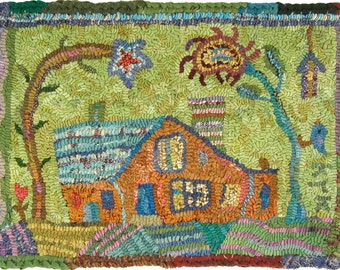 Homestead Pattern PDF for rug hooking and punchneedle embroidery