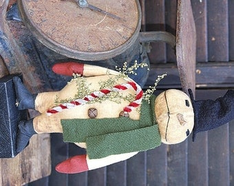 Primitive Snowman Pattern Digital E Pattern Instant Download Artie The Snowman Folk Art OFG Team