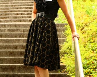 High Waisted Circle Skirt, Woman's Full Circle Skirt, Classy Skirt, Custom Made in ALL lengths and sizes from petite to plus