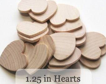 Unfinished Wooden Hearts - 1.25 inch - 1 1/4 inch - Pack of 100