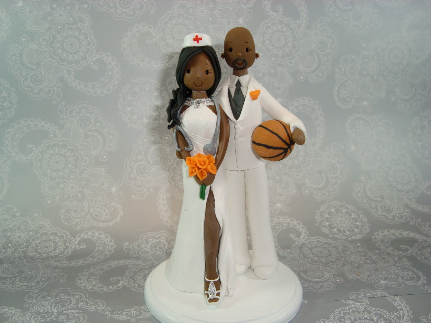 basketball wedding cake toppers amp basketball player custom handmade wedding cake topper 11106