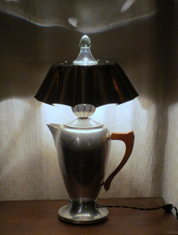 Mlle Colette coffeepot lamp with shade