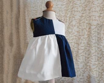 Blue and White Girls Dress, Nautical Girl Dress, Toddler Dress, Blue and White Toddler, Blue and White Kids, Nautical Dresses, baby