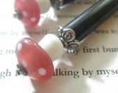 Marsh Mushrooms - Mini Hairsticks in Pink and White