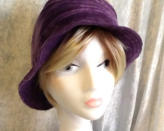 Soft, Lavender Hat, Unlined, Can be worn many ways!