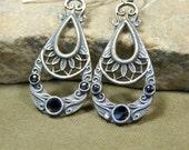 Silver Earrings - Tribal Earrings - Chandelier Earrings - Drop Earrings - Teardrop Earrings - Bohemain Earrings -Dangle Earrings