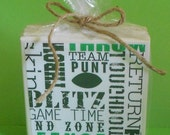 Football Coasters - Set of Four - Sport Themed Gift Idea for Coach, Player, Fan or Gameroom