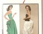 Vintage Sewing Patterns - 1980s Evening Gown Pattern -  Style 1201 Pattern  - Bust 34 - Designer  Carolina Herrera - Prom Dress - Uncut