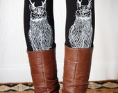 Wild Catalope Leggings - White and Black - The Original Cat Legging - by Simka Sol