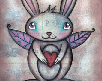 Faerie Bunny - 8x10 Signed Print