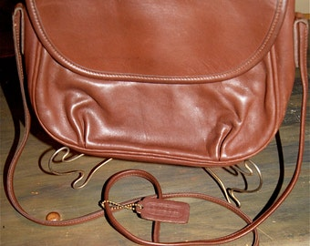 Vintage COACH Brown Leather  Purse The Coach Lightweights line