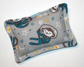 Natural Hot and Cold Pack - Soothing Owie Pack Heat and Cool Therapy Pad- Made with Flax Seed and Lavender - Space Monkey Astronaut