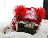 Sweet Valentine Dog Hat - Valentine Gift - Pet Apparel - Pet Clothing - Dog Clothing - Pug Hat - Cute Dog Clothes